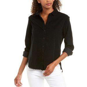 Bella Dahl Black Corduroy Botton Down Shirt Top